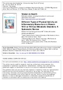 Different Types of Physical Activity on Inflammatory Biomarkers In Women with or without Metabolic Disorders.pdf.jpg
